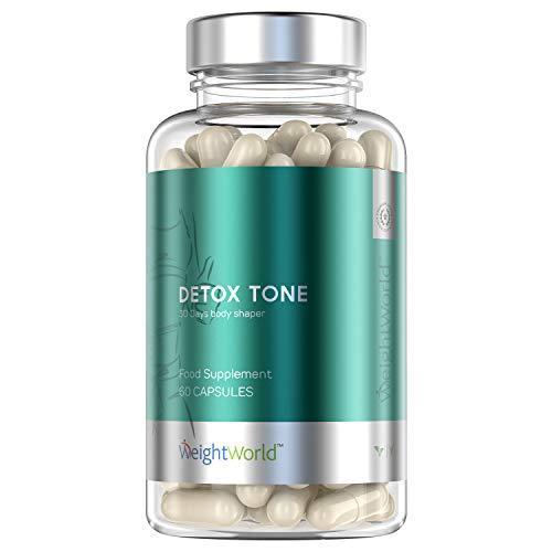 Premium Detox Tone Kapseln hochdosiert als Entgiftungskur für Verdauung, Magen & Darm - 30 Tage Kur zur Darmreinigung & Entgiftung - 100% Natürliche Vitamin Komplex - 60 Detox Clean Tabletten Vegan