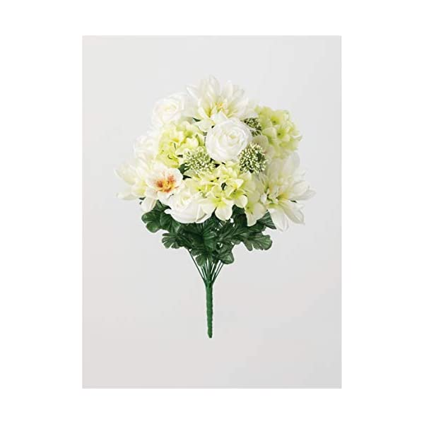 Sullivans Artificial Memorial Flower Bush (Hydrangea, Dahlia, Cosmos)