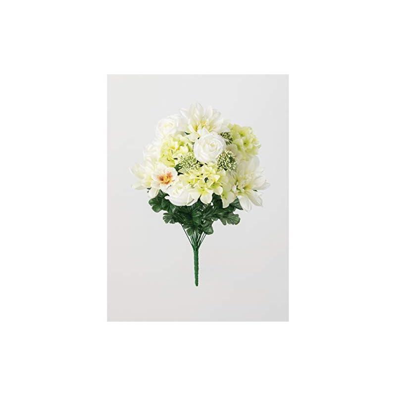 silk flower arrangements sullivans artificial memorial flower bush (hydrangea, dahlia, cosmos)