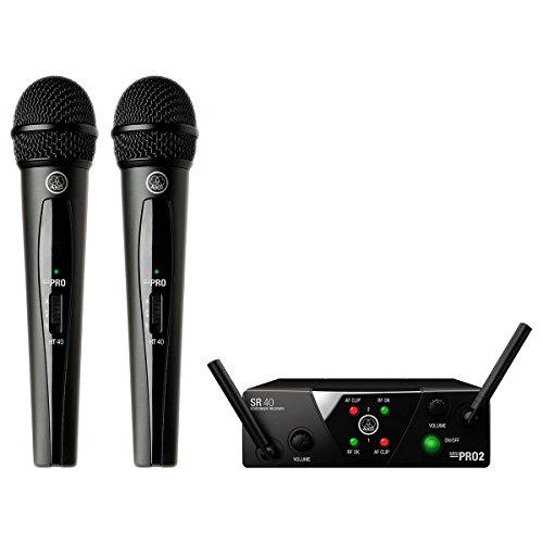 AKG WMS 40 Mini Dual Vocal - Set de Radio y micrófono analógico de Doble frecuencia