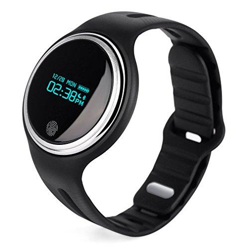 Smartwatch, wasserdicht E07 Bluetooth 4.0 Smart Armband OLED Display Smart Armband mit Schrittzähler Uhr Schlaf Fitness Aktivität für Android und IOS
