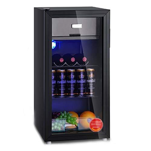 réfrigérateur Barre de Glace à Porte Unique, Refroidisseur de vin Domestique, à économie d'énergie Silencieux, Thermostat réglable en Verre Transparent