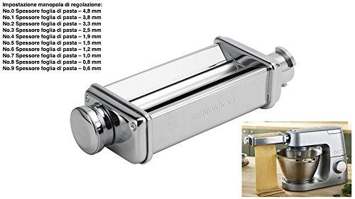 Kenwood KM010 - Accessorio Pasta (Pasta Roller 10 regolazioni) Sfogliatrice + Adattatore Omaggio Originale per Kitchen Machine e Coocking Chef