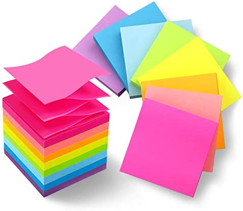 8 Pads Pop Up Sticky Notes 3x3 Refills Bright Colors Self Stick Notes Pads Super Adhesive Sticky product image