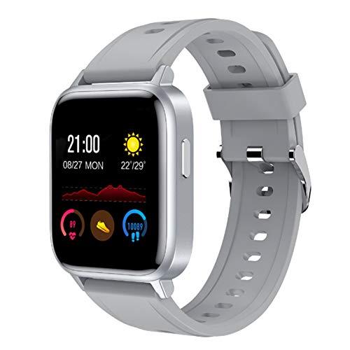 Wsaman Pulsera De Actividad Inteligente Impermeable IP68, Rastreador De Ejercicios con Rtmo Cardíaco Sueño Monitor para Android e iOS Smart Watch Reloj,Gris