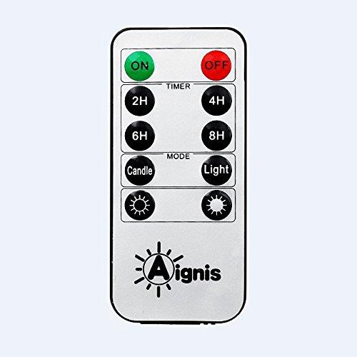 Aignis 10-Key Remote Control with 24-Hour Timer Function Suit for All Non Flickering Candles