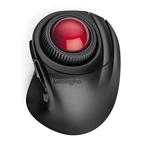 Kensington Wireless Trackball, Orbit Fusion kabellose Trackball Maus mit Scroll-Rad, Ergonomische Computermaus für Rechtshänder, Ideal für kleine Schreibtische und das Büro, K72363WW