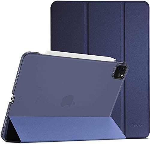 ProHülle Hülle für iPad Pro 11 Zoll 3rd Generation 2021/5G, Ultra Dünn Leicht Ständer Schal Schutzhülle Smart Hülle Cover -Navy