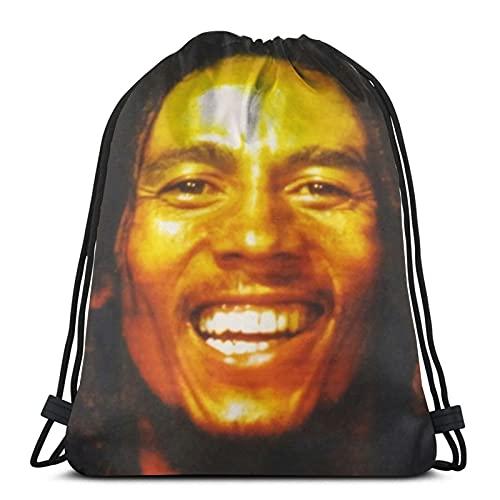 Bob-Marley Mochila con cordón resistente al agua, bolsa de deporte ligera para la playa para niños