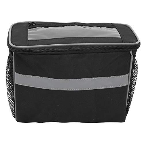 logozoee Lenker-Korbtasche, Frontbalken-Tasche, 3 einfach zu verwendende Klettverschlüsse für Haushaltsbehälter zur Aufbewahrung von Flaschen Trinkbecher