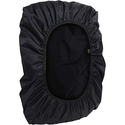 CampTeck U6905 Wasserabweisende Rucksackabdeckung 25L – 40L Regenschutz Rucksack für Fahrradfahren, Laufen, Reisen, Campen, Outdooraktivitäten - Schwarz