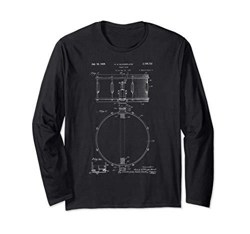 Drum Patent, Schlagzeuger Geschenk, Musik, Jazz-Band Langarmshirt