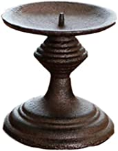 Estrymiw Metal Candle Holder Nordic Classic Candle Stand 9.44 Inch Tall Wedding Event Candelabra Candle Stick (Black) 0218...