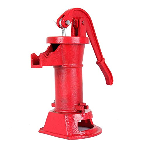Iglobalbuy Bomba de Mano Bomba de Agua Suministro de Bomba de Agua Lanzador de Hierro Fundido Prensa de succión Bomba de Pozo Patio al Aire Libre Estanques Jardín