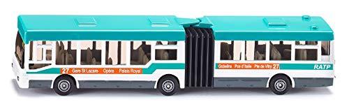 siku 1617001, Gelenkbus RATP Frankreich, Metall/Kunststoff, Türkis/Weiß, Vielseitig einsetzbar, Spielfahrzeug für Kinder