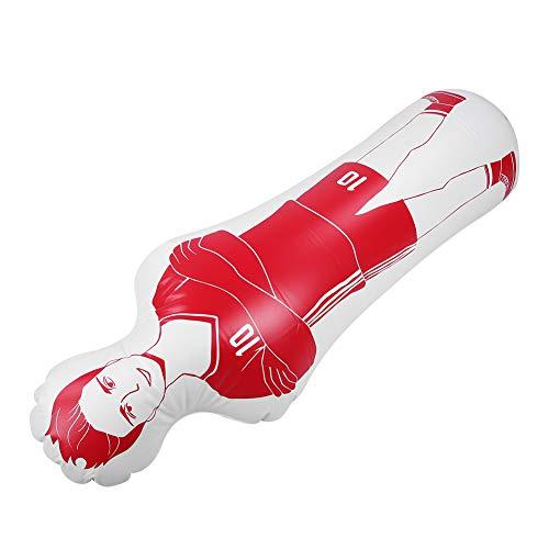 CUEA Fußball-Dummy, breite Anwendung Fußball-Dummy, Übungszubehör für Fußball-Zubehör Fitnessgeräte Fußballtraining(red)