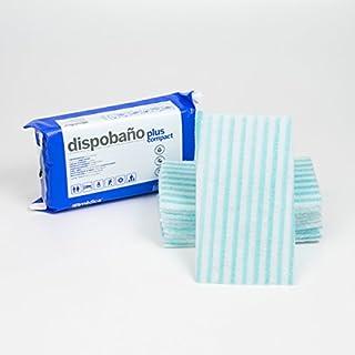 Esponja jabonosa desechable para pieles sensibles, 12x20 cm. Pack de 10 uds.