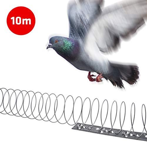Gardigo Vogelfrei Spirale I Bis zu 10m Vogelschutz auf Balkon, Fenstersims, Dachkasten I Vogelabwehr I Taubenabwehr I Deutscher Hersteller