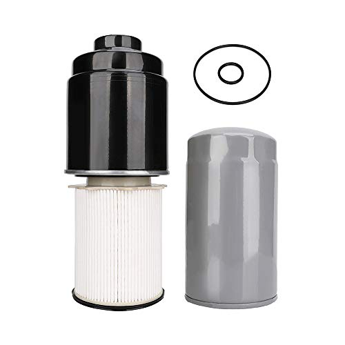 6.7 Cummins Fuel Filter Water Seperator Oil Filter Kit For 2013-2018 Dodge Ram 2500 3500 4500 5500 with 6.7 Liter Cummins Turbo Diesel Engine - Replaces 68197867AB / 68157291AA / 5083285AA