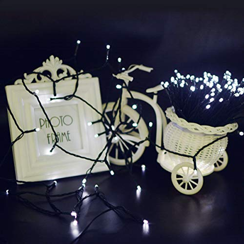 Vmanoo Christmas Lights 72 Feet 22 Meter 200 LED 8 Modes Solar Powered Fairy String Lights For Outdoor Indoor Garden Patio Lawn Landscape Xmas Tree Wedding Decoration Waterproof (White-2 Pack)