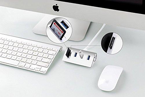 『Cateck 2スロットカードリーダーコンボ搭載バス電源供給 USB 3.0 3ポートハブ (iMac、MacBook Air、MacBook Pro、MacBook、Mac Mini、PC、ラップトップ対応)』の6枚目の画像