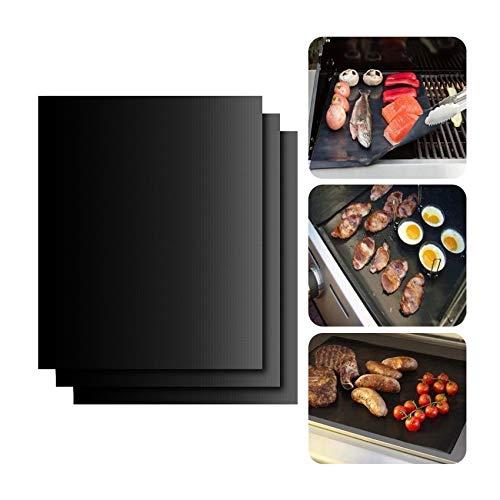 WW 5 pcs antiadhésif Barbecue Tapis 40 * 33 cm Barbecue Tapis téflon Cuisson Grill