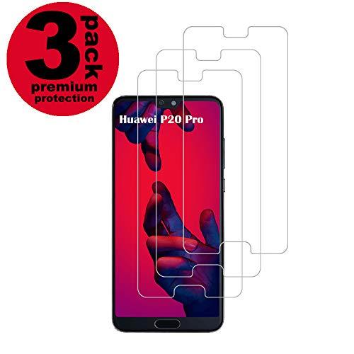 Huawei P20 Pro Panzerglas Schutzfolie, [3 Stück] Hohe Qualität Gehärtetem Glass [Case Friendly] [9H Härte] [Anti-Kratzer] [Anti-Fingerabdruck] [Blasenfrei] Panzerglasfolie für Huawei P20 Pro