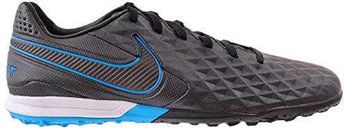 Nike Unisex-Erwachsene Tiempo Legend 8 Club Tf Fußballschuhe, Mehrfarbig (Black/Black-Blue Hero 4), 45.5 EU