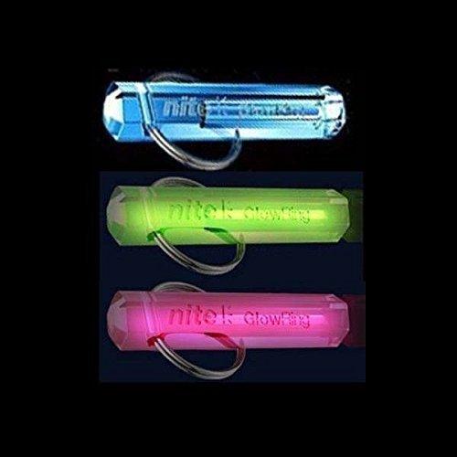 Nite GlowRing Schlüsselanhänger, Tritium, leuchtend, verschiedene Farben erhältlich Leuchtender Schlüsselanhänger Rosa rose