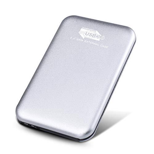 外付けハードディスク 外付けHDD ハードディスク USB3.0 ポータブルハードディスク 簡単接続 Mac/PC/Xbox/テレビ対応(2TB,銀)