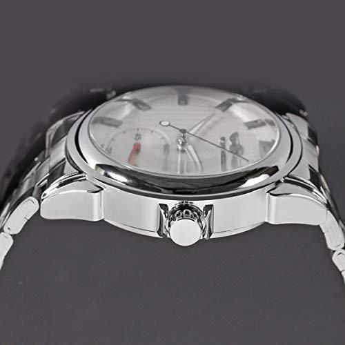 Winner Herren Uhr Automatik Mechanische Automatikuhr Skelett Militär Edelstahl Armbanduhren Mann,White