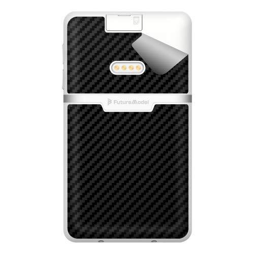 スキンシール NichePhone-S 4G 【カーボン調・ブラック】