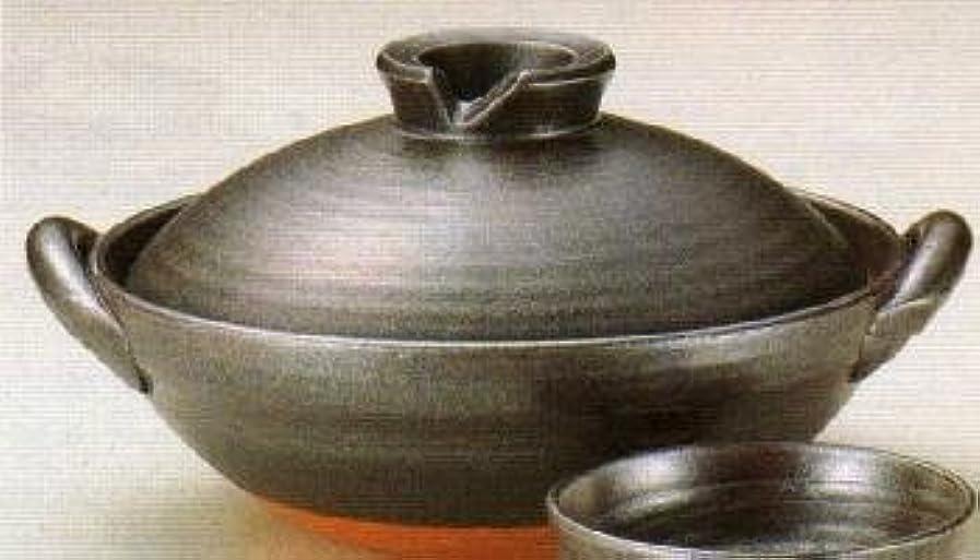 手荷物石の後継京型鉄釉土鍋 10号