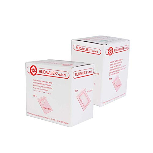 Noba Rudavlies sterile Wundpflaster 50 Stück (7 cm x 5 cm) + 50 Stück (10 cm x 6 cm)