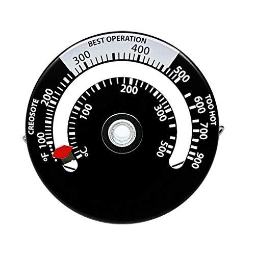 Currentiz Thermomètre Magnétique pour Poêle À Bois De Cheminée Thermomètre De Cheminée Thermomètre De Ventilateur