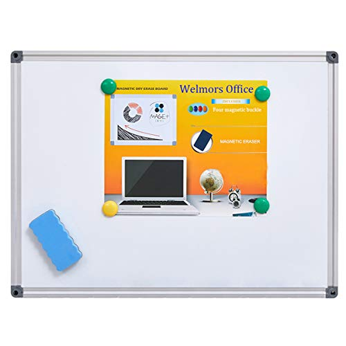 Welmors Office Magnetic White Board, Small Dry Erase Board 12'' x...