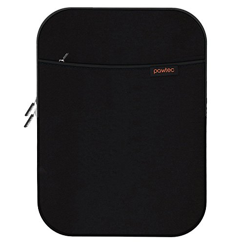 Pawtec Shockproof Neoprene Protective Storage Carrying Sleeve Case - Compatible with Apple 10.5 Inch iPad Pro Retina Tablet - Extra Storage Pocket for Accessories and Charger (Black iPad Pro 10.5)