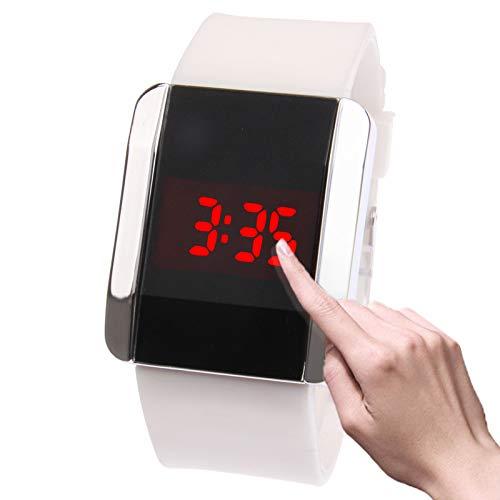 GANK YCYC AYSMG Modische rote LED-Digitalarmbanduhr & Kautschukarmband for Männer und Frauen (weiß)