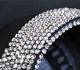 900pcs Más diamantes de imitación de 4 mm Diamantes autoadhesivos que se adhieren a los cristales Perlas Nail Art Car SILVER o para bordado de diamantes-China, Transparente, 4 mm