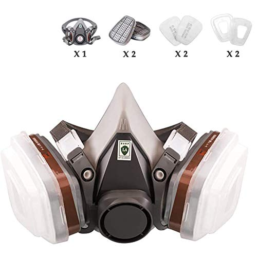 LAZRJ Máscara de Media respiración Máscara de Polvo Máscara de Pintura para Pintura, Polvo, partículas, Pulido a máquina, Soldadura y Otras Protecciones de Trabajo