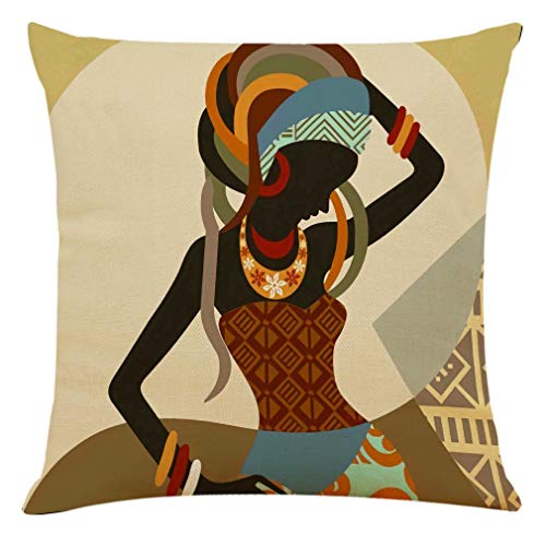SHANQUAN Beautiful African Pillow Case Decor Linen Sofa Cushion Cover Home Decor Pillow Cases For Living Room Bedroom Sofa Couch