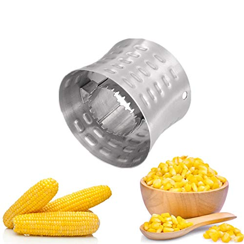 Corn Stripping Tool Corn Stainless Steel Peeler Corn Stripper Cutter Removing Kernels from Fresh Corn Kitchen Gadgets for Salads, BBQ