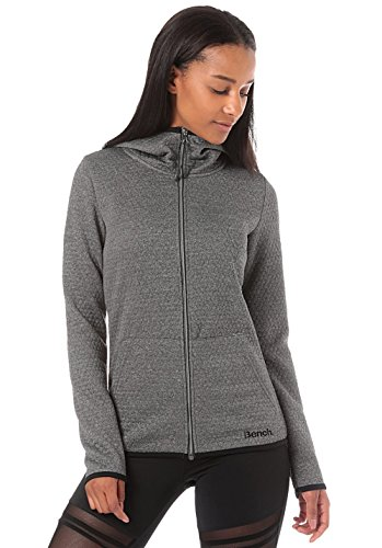 Bench Damen Bonded Sweat Trainingsjacke, Anthracite Marl, S