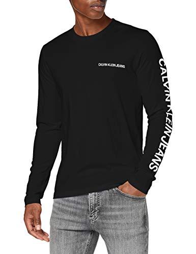 Calvin Klein Jeans Herren Essential Instit Ls Tee Hemd, Ck Black, XXL