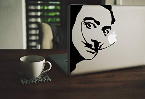EricauBird Salvador Dali Aufkleber Surrealismus Salvador Dali Vinyl, Dali Uhr, Salvador Schnurrbart-Aufkleber, Künstler Vinyl, einfach anzubringen und zu entfernen