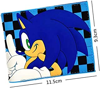 Sonic the Hedgehog Cartoon Style Wallet | Money Holder | Kids Gift