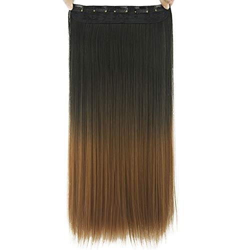 JUNGEN Perruques Femmes Extension de cheveux Cheveux raides Clip de cheveux Rideau de cheveux Dégradé Longs Cheveux Rideau Droite colorées Accessoire