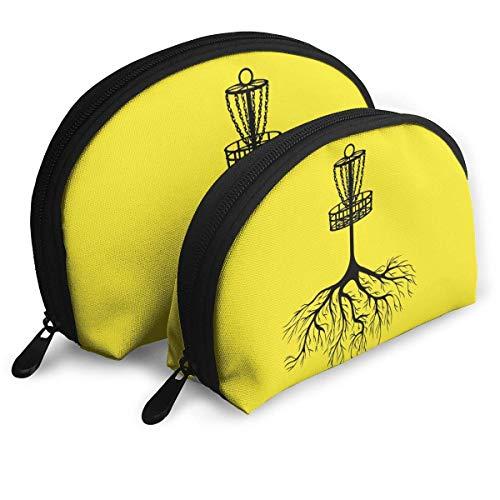 XCNGG Storage bag Storage Bag Disc Golf Roots Warmth Handbag Women's Bag One Big One Small Cosmetic Bag