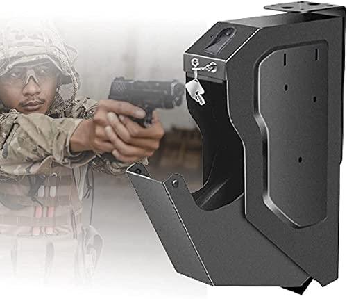 AACXRCR Armadi sicuri compatti di pistola, scatola di fucile da caccia chiave, scatola di pistola sicura della pistola con impronta digitale biometrica, scatola portatile portatile e sicura della pist
