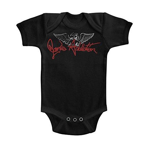Janes Addiction - Unisex-Baby Ciseau Angel Onesie, 6M, Black